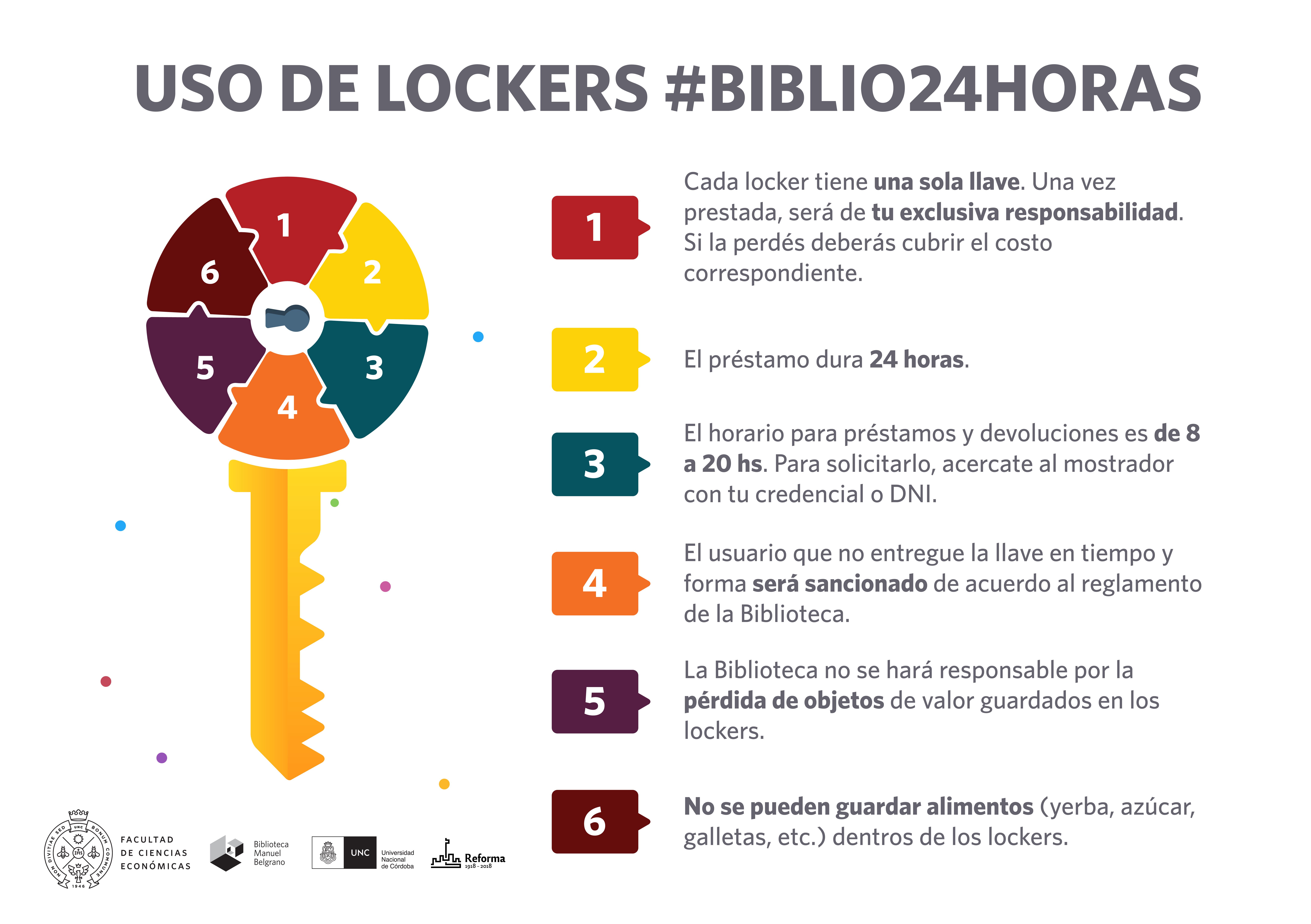 uso de lockers