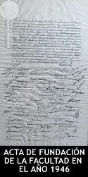 Acta de fundación de la Facultad del año 1946