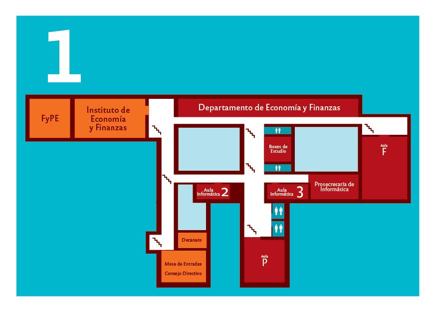 Plano del primer piso de la Facultad