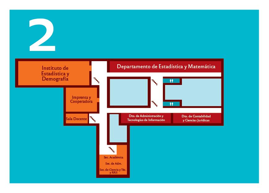 Plano del segundo piso de la Facultad