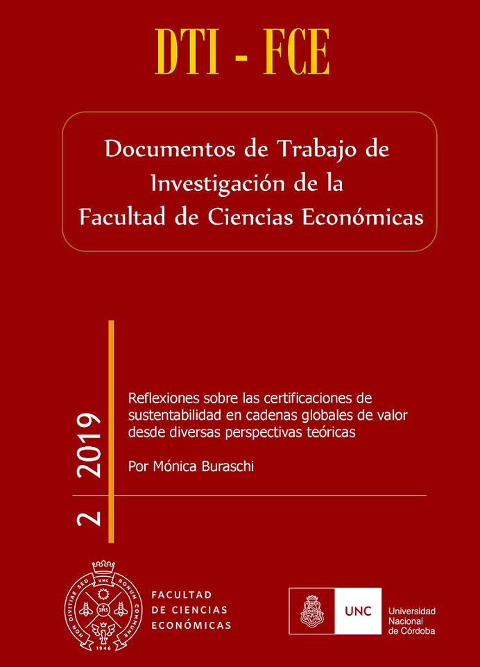 Imagen de una portada de la serie Documentos de Trabajo de Investigación