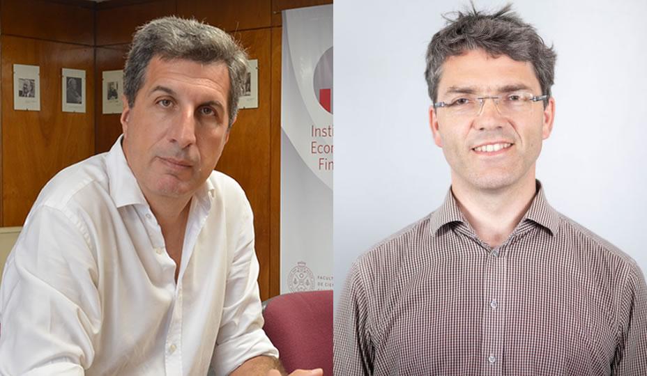 Imagen de los profesores Alejandro Jacobo y Konstantin Kholodilin