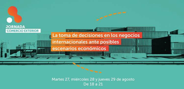 Imagen de promoción de la Jornada sobre Comercio Internacional