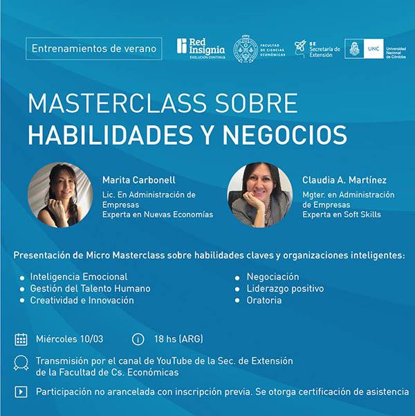 Masterclass habilidades negocios