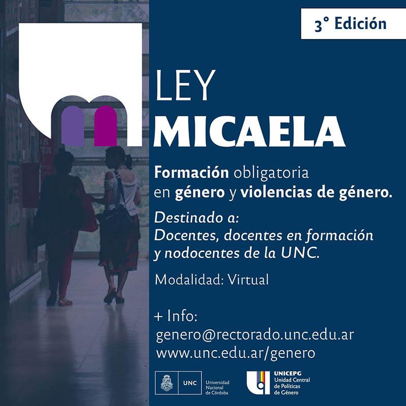 3 Edición Ley Micaela UNC