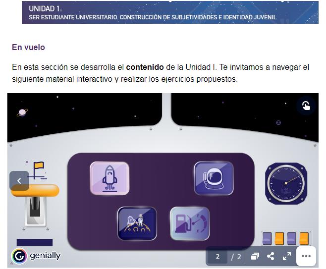 Toma de pantalla de la sesión del primer módulo del PID