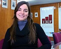Eugenia Meiners, becaria del IEF (Foto: Marcelo Coser - IEF)