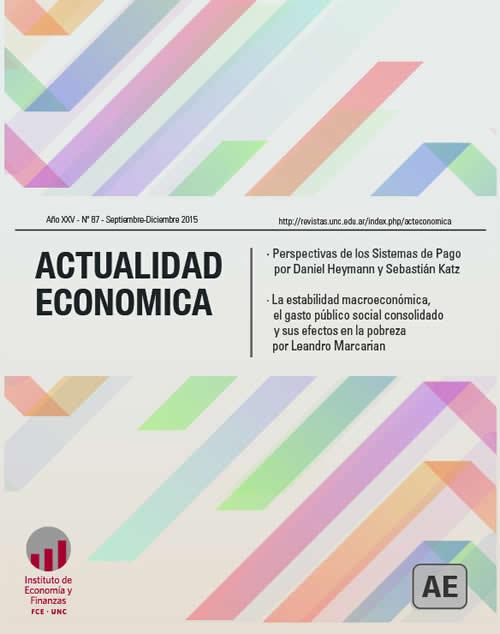 Tapa de la Revista Actualidad Económica